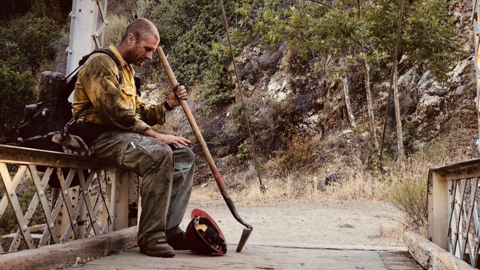 Capt. Justin Grunewald of the Mill Creek Hotshots takes a short rest amid a battle against the Willow fire.(U.S. Forest Service)