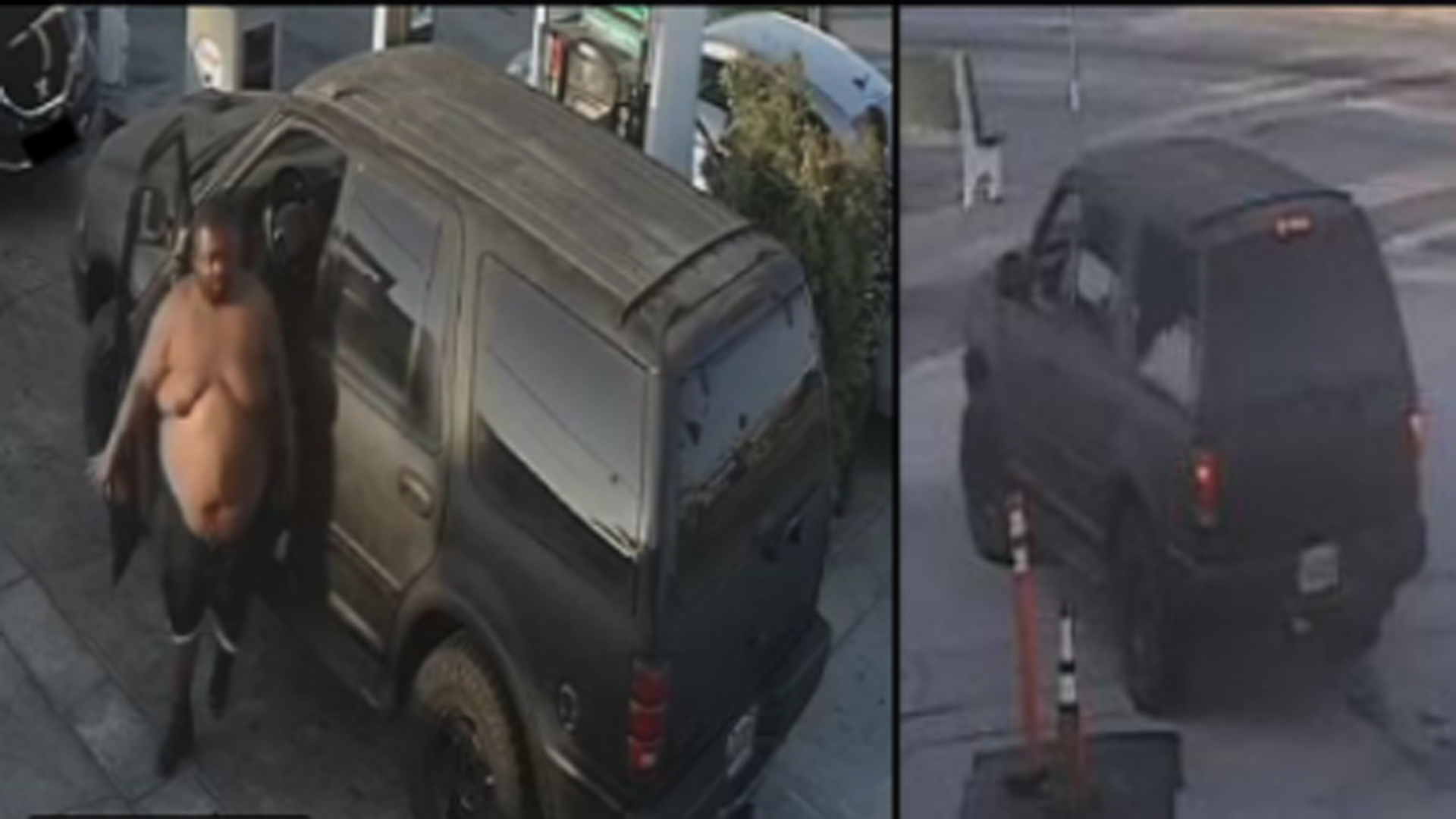 A man caught on video assaulting a woman at a Gardena-area gas station in late May is seen in a still photo released by the L.A. County Sheriff's Department on June 4, 2021.