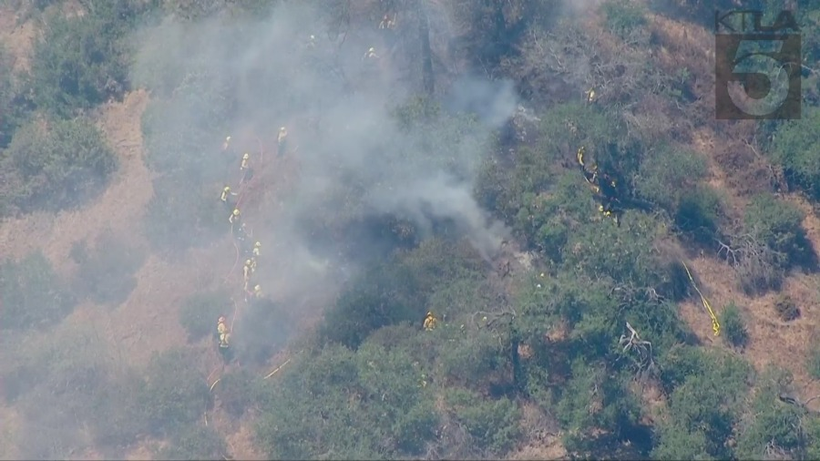L.A. firefighters contain small brush fire near Griffith Observatory