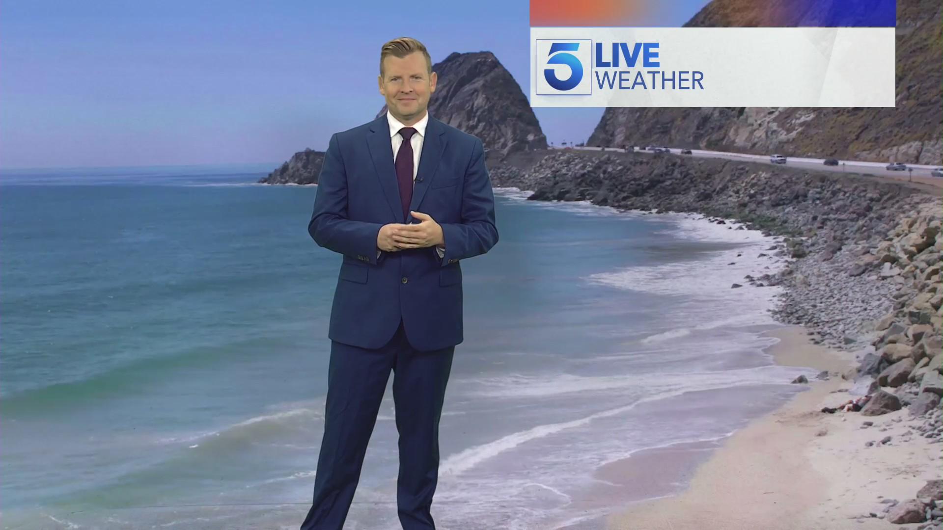 Kirk Hawkins reports the Thursday forecast on June 24, 2021. (KTLA)