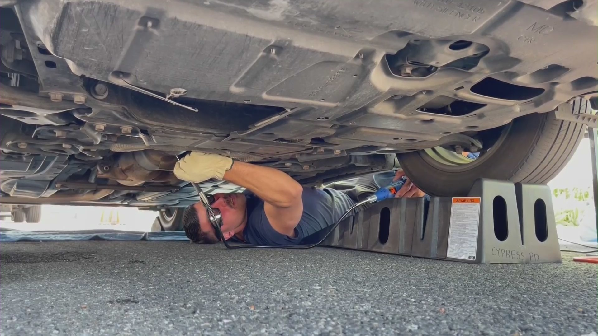 Law enforcement agencies in Orange County hosted a catalytic converter etching event on June 12, 2021.