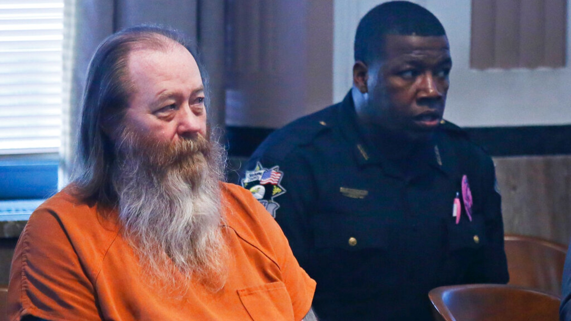 In this Oct. 18, 2017 file photo, William Lewis Reece, left, waits for a hearing to begin in Oklahoma City. (AP Photo/Sue Ogrocki, File)