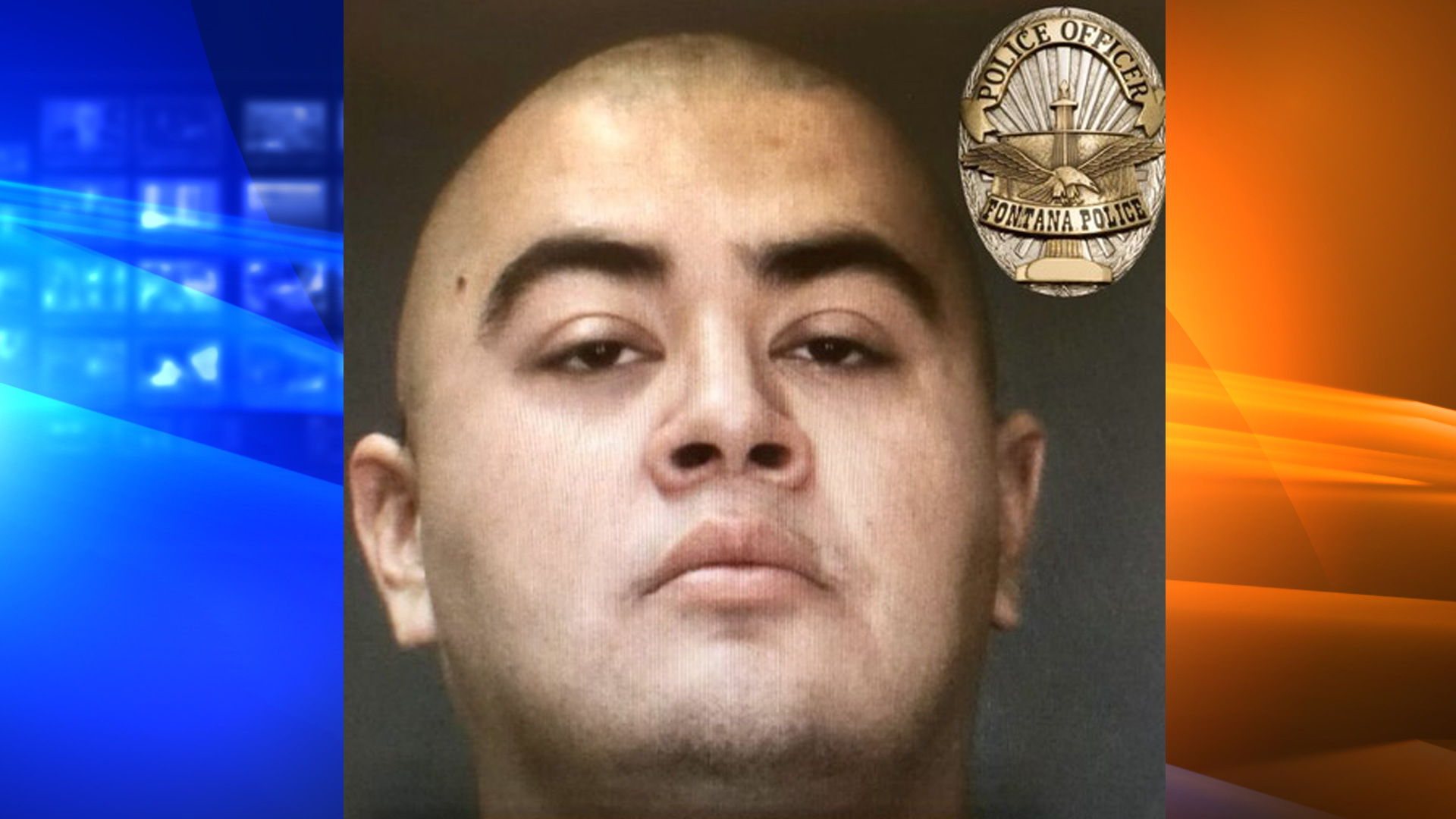 Luis Rivera is seen in a booking photo released by the Fontana Police Department on June 24, 2021.
