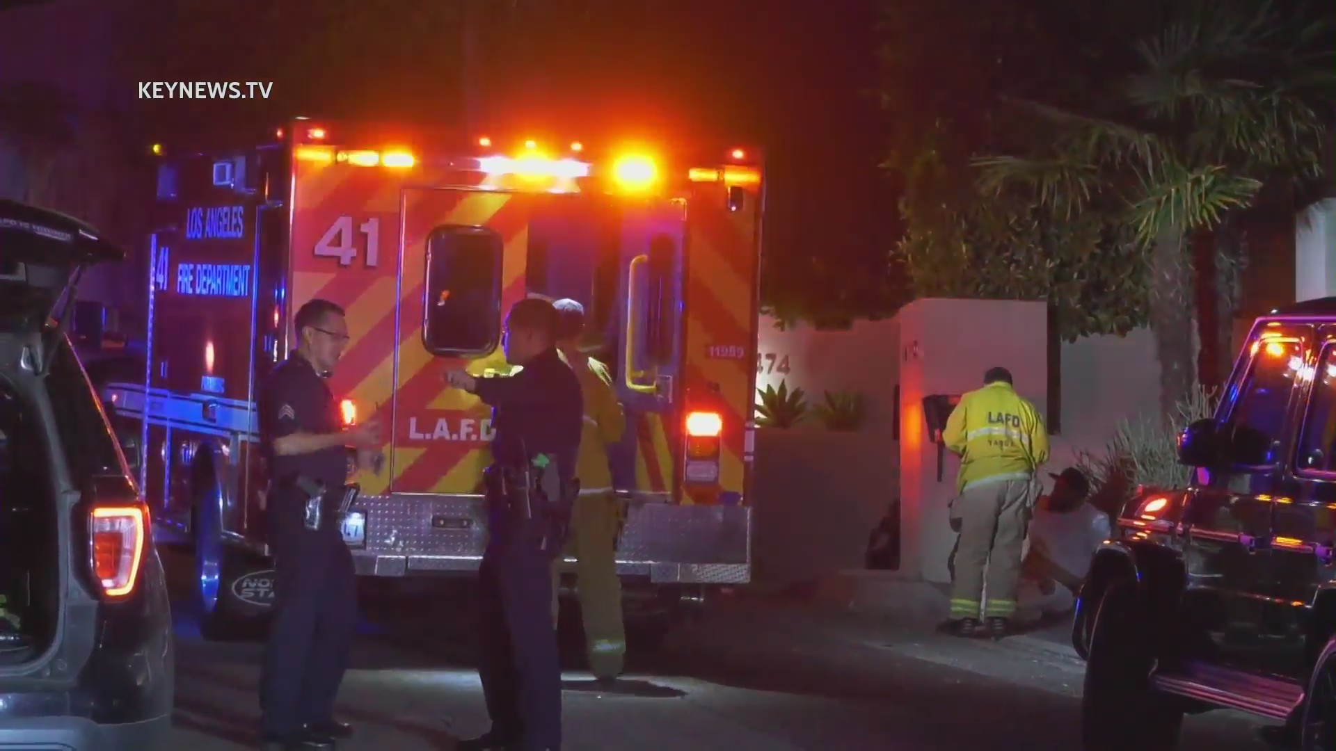 LAPD investigates a shooting in the Hollywood Hills on June 25, 2021. (KeyNews.TV)
