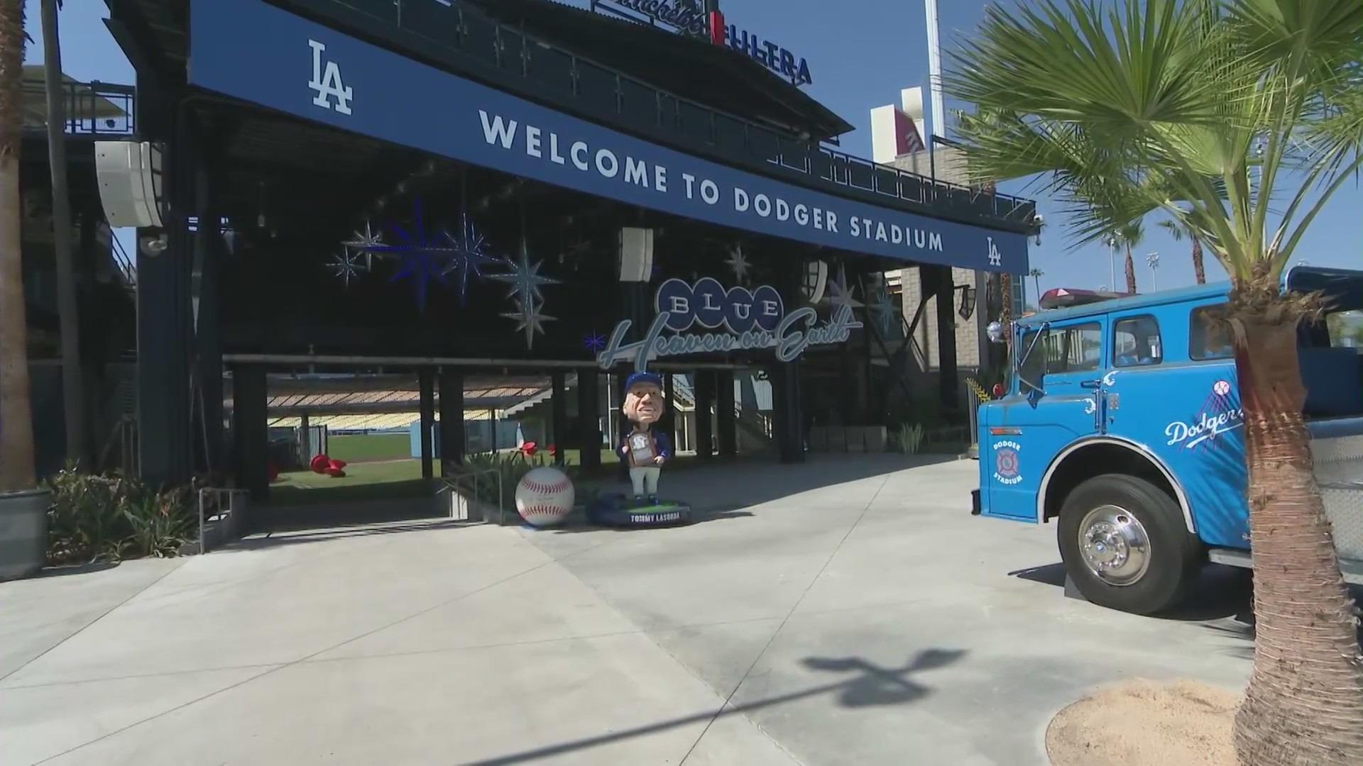 Dodger Stadium is seen on June 15, 2021. (KTLA)