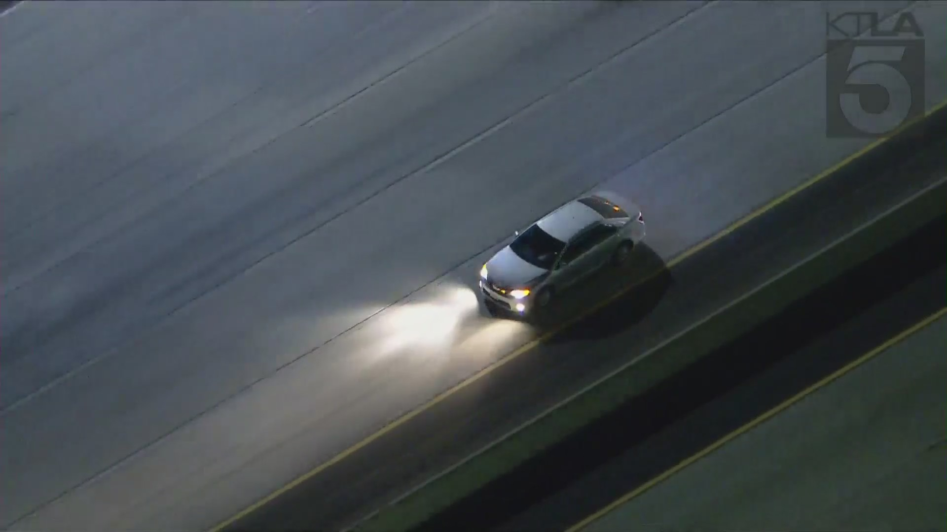 The California Highway Patrol was in pursuit of a vehicle in the San Fernando Valley Wednesday night. Sky5 was overhead.