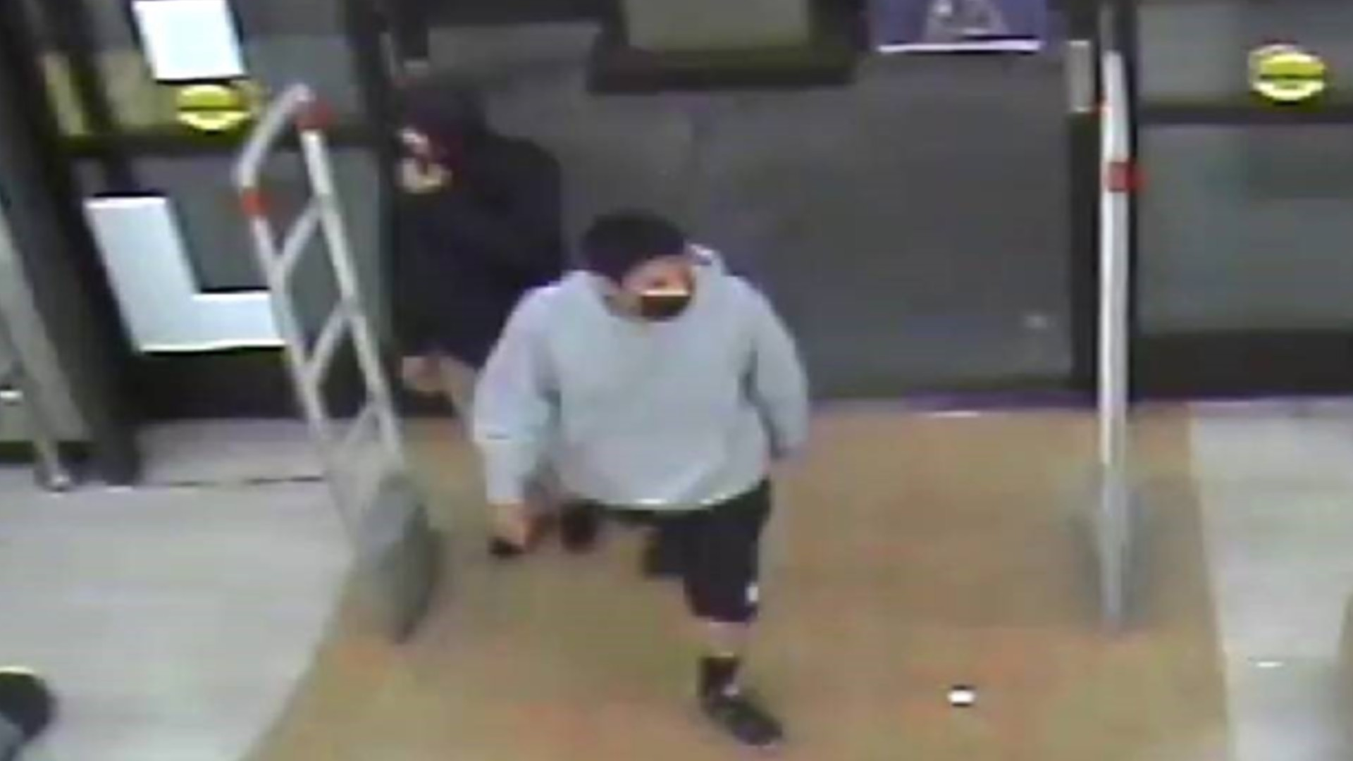 The Los Angeles Police Department released surveillance video images showing the two men suspected in the killing of the Rite Aid employee in Glassell Park on July 15, 2021. (LAPD)
