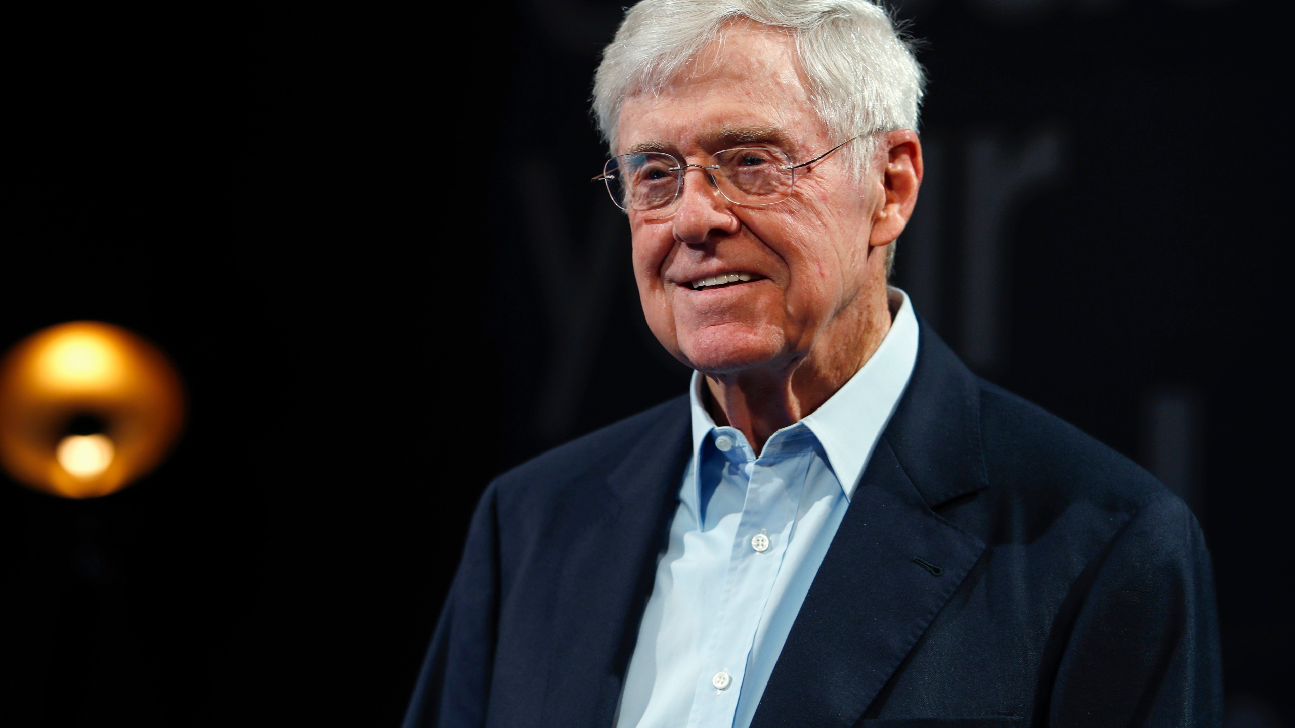 In this June 29, 2019, file photo, Charles Koch, chief executive officer of Koch Industries, at The Broadmoor Resort in Colorado Springs, Colo. The Supreme Court has ordered California to stop collecting the names and addresses of top donors to charities. The justices voted 6-3 along ideological lines to side with two nonprofit groups, including one with links to billionaire Charles Koch, that argued California's policy violates the First Amendment. (AP Photo/David Zalubowski, File)
