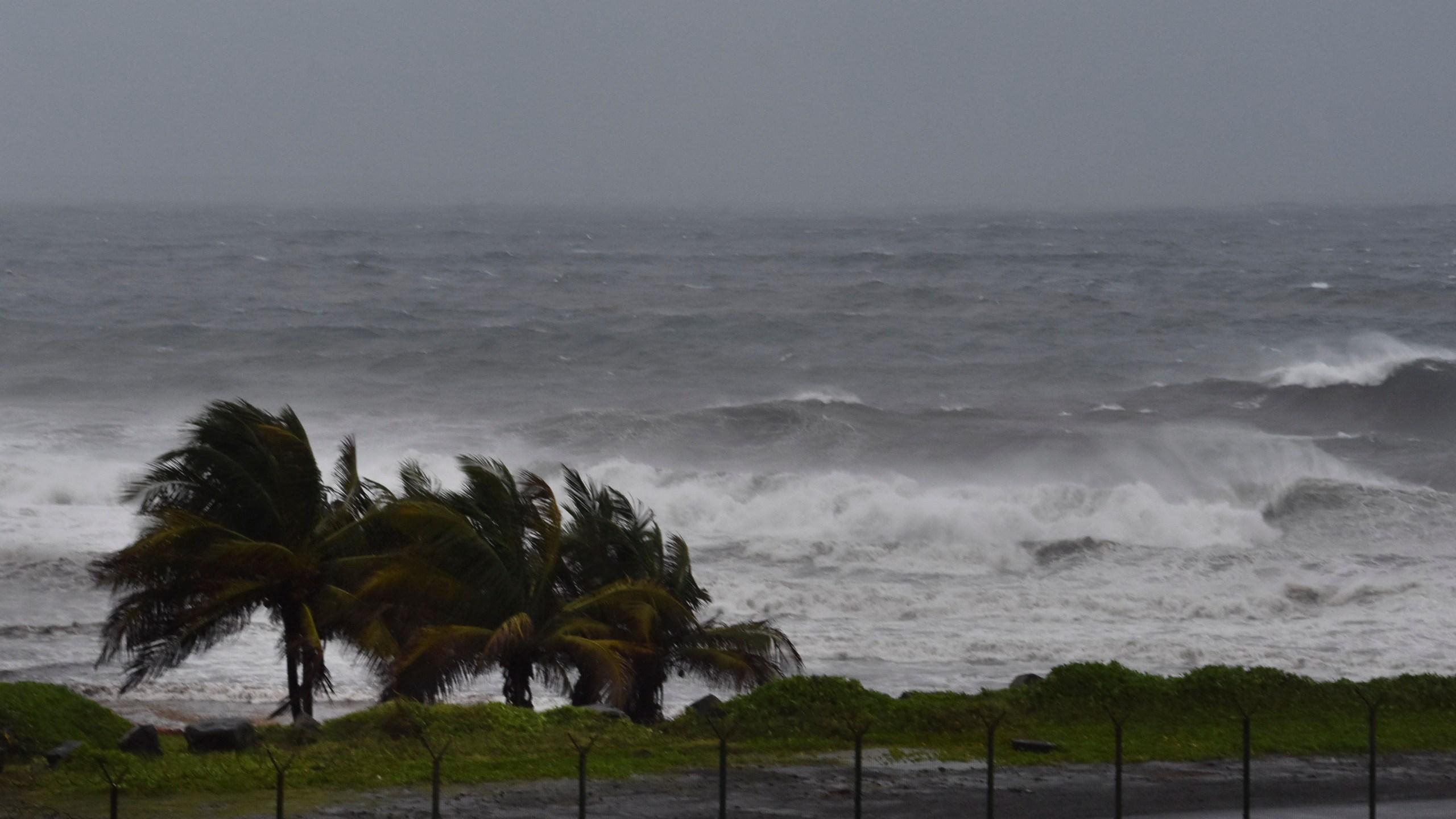 Hurricane Elsa approaches Argyle, St. Vincent, Friday, July 2, 2021. (AP Photo/Orvil Samuel)