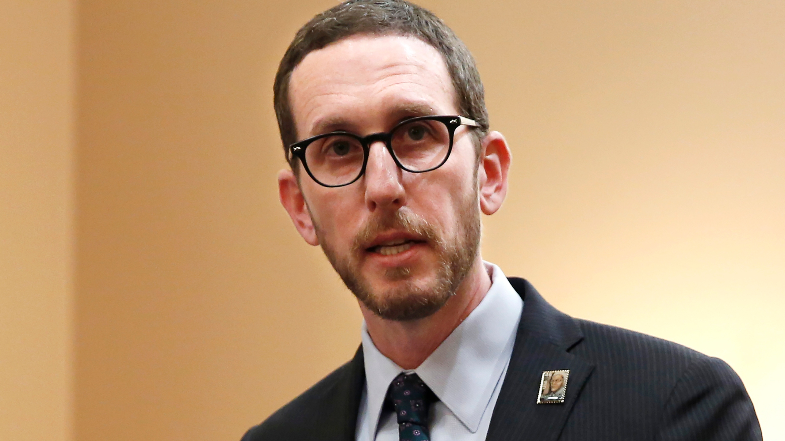 In this Jan. 21, 2020, file photo, state Sen. Scott Wiener, D-San Francisco, speaks at a news conference in Sacramento, Calif. (AP Photo/Rich Pedroncelli, File)