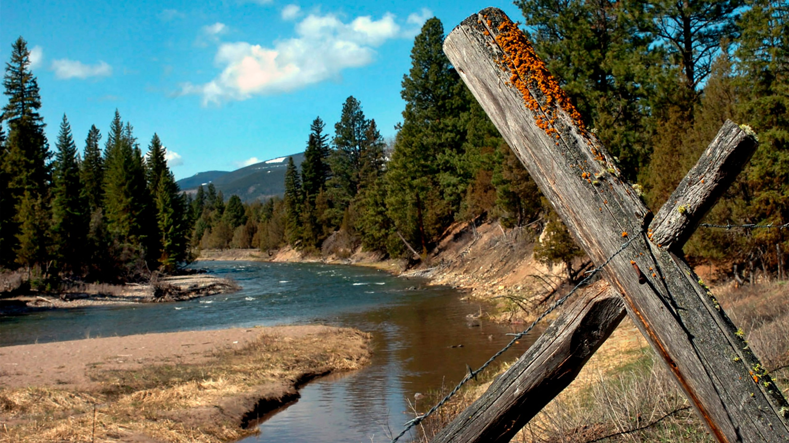 Jacobsen Creek, a tributary of the North Fork of the Blackfoot River, is seen near Ovando, Mont., on April 26, 2006. ( Jennifer Michaelis / The Missoulian via Associated Press)