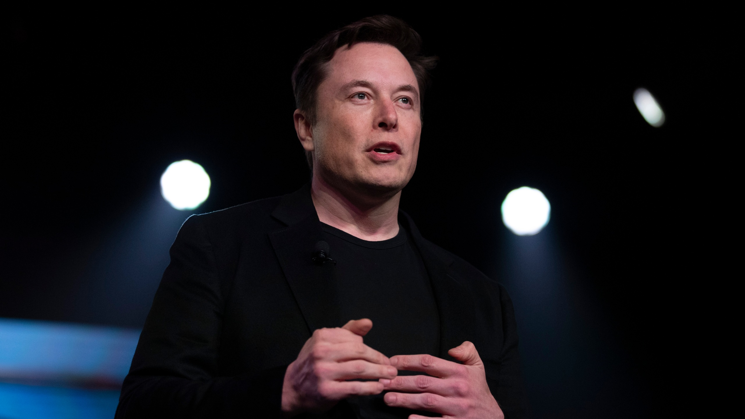 In this March 14, 2019, file photo, Tesla CEO Elon Musk speaks before unveiling the Model Y at the company's design studio in Hawthorne, Calif. (AP Photo/Jae C. Hong, File)