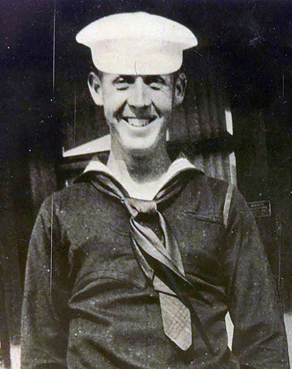 This undated photo provided by The Defense POW/MIA Accounting Agency shows Petty Officer 1st Class Charles E. Hudson, of Stockton. The remains of Hudson, who was killed in the Dec. 7, 1941, attack on Pearl Harbor have finally been identified.