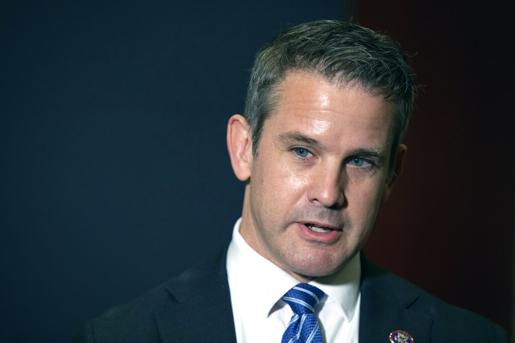 In this May 12, 2021 file photo, Rep. Adam Kinzinger, R-Ill., speaks to the media at the Capitol in Washington. (AP Photo/Amanda Andrade-Rhoades, File)