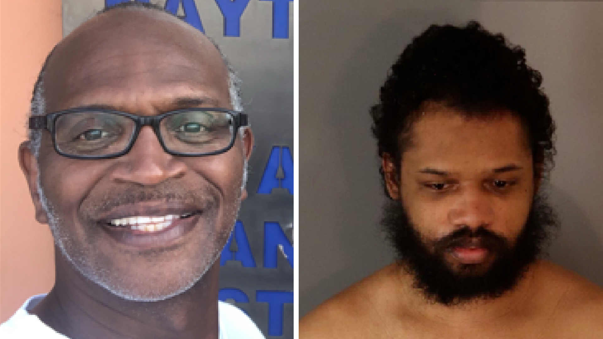 Grant Leggette Sr. and the man arrested on suspicion of killing him, Richard Kevin Baldwin III, are seen in undated photos released by the Riverside Police Department.