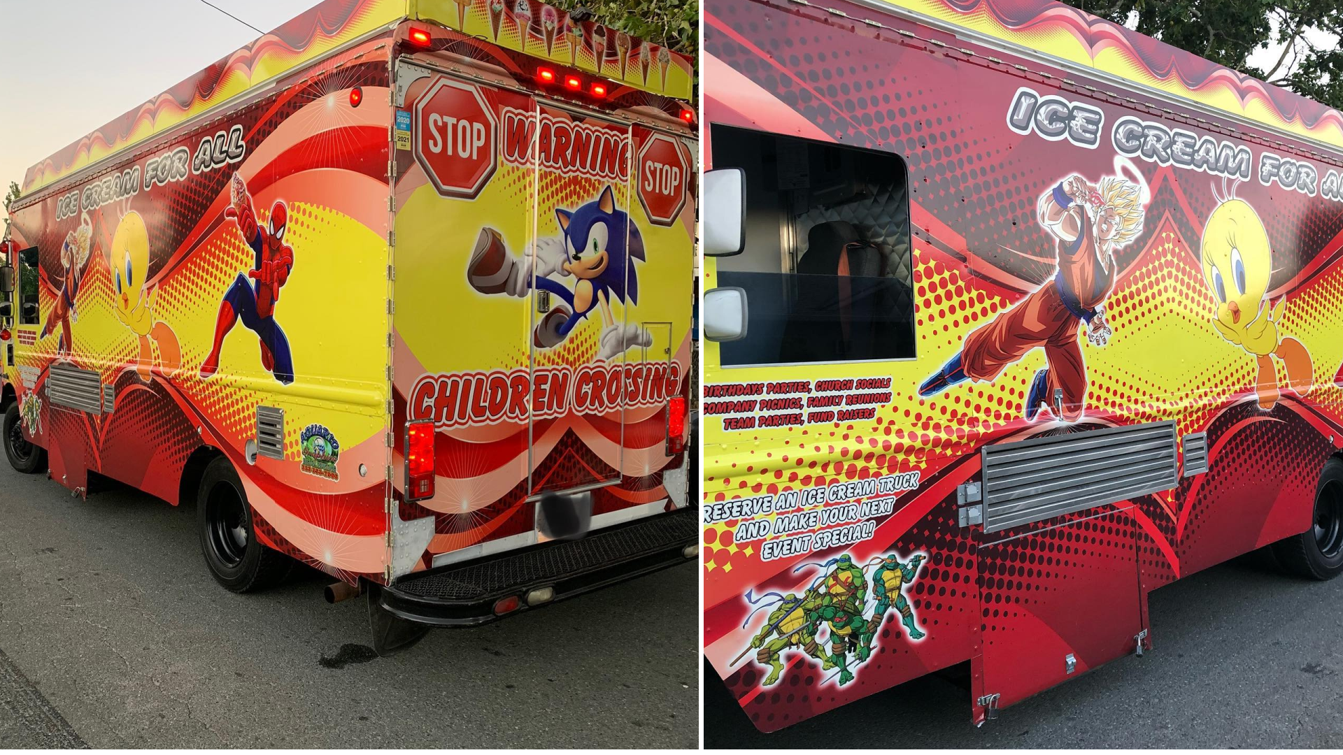 The Pittsburg Police Department on July 3, 2021 released these photos of an ice cream truck in which they say illegal fireworks were found.