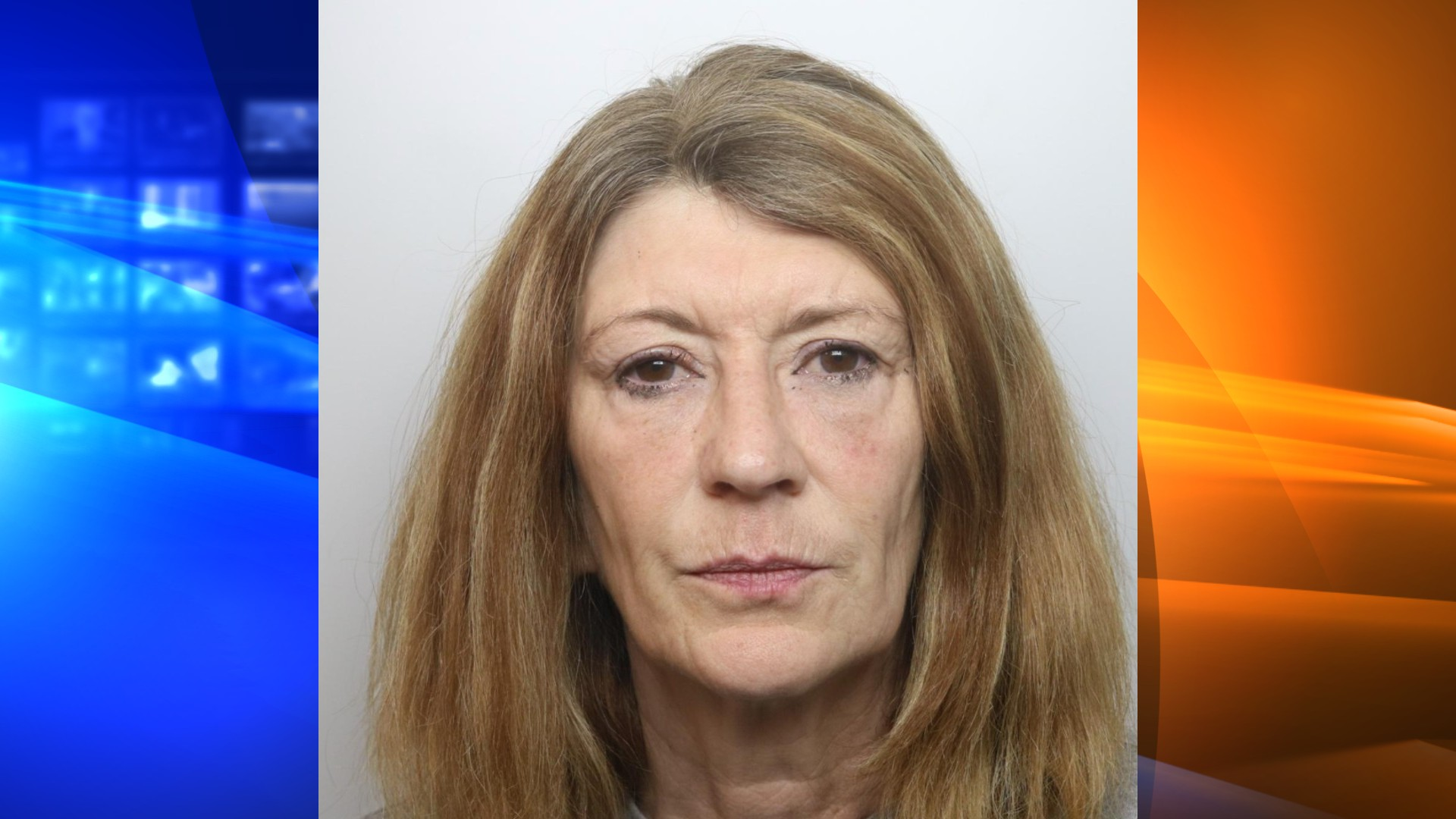 Corinna Smith is seen in a booking photo released by the Cheshire Constabulary.