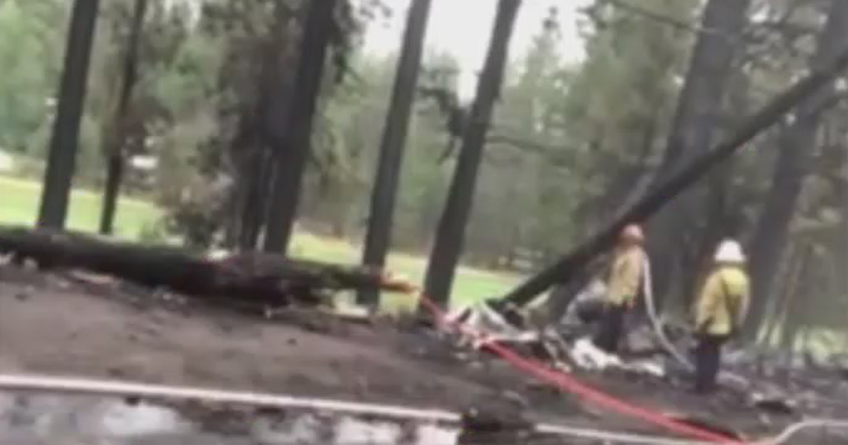 An image of the scene provided by a resident who lived near the site of the Truckee plane crash. (KTXL)