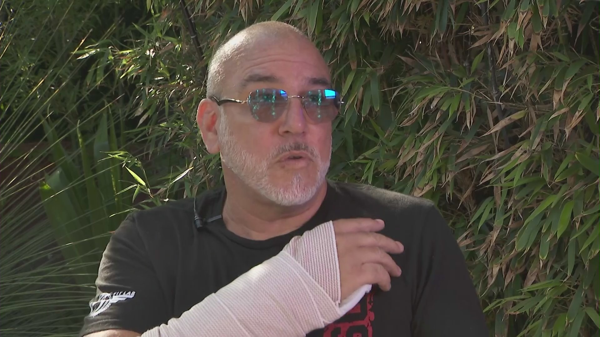 Evan Townsley is recovering from a dog attack on July 29, 2021. (KTLA)