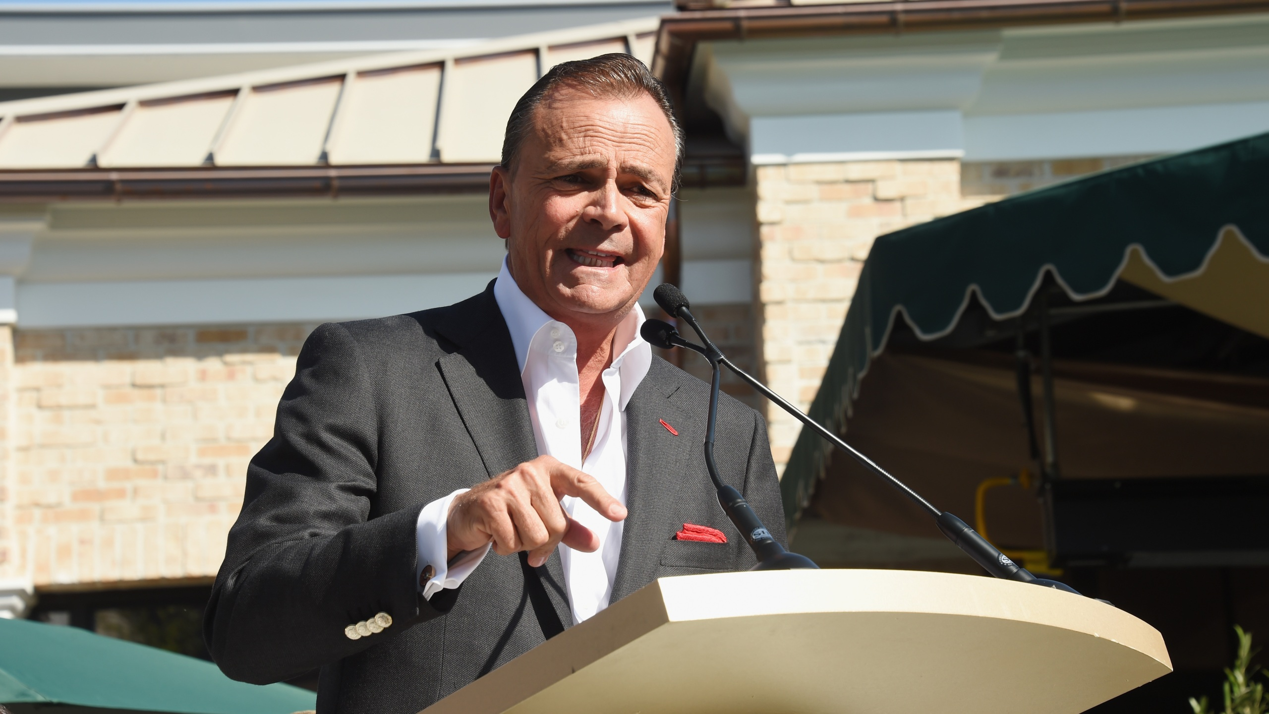 Developer Rick Caruso attends the Palisades Village grand opening private ribbon-cutting ceremony at Palisades Village on September 22, 2018 in Pacific Palisades. (Amanda Edwards/Getty Images)