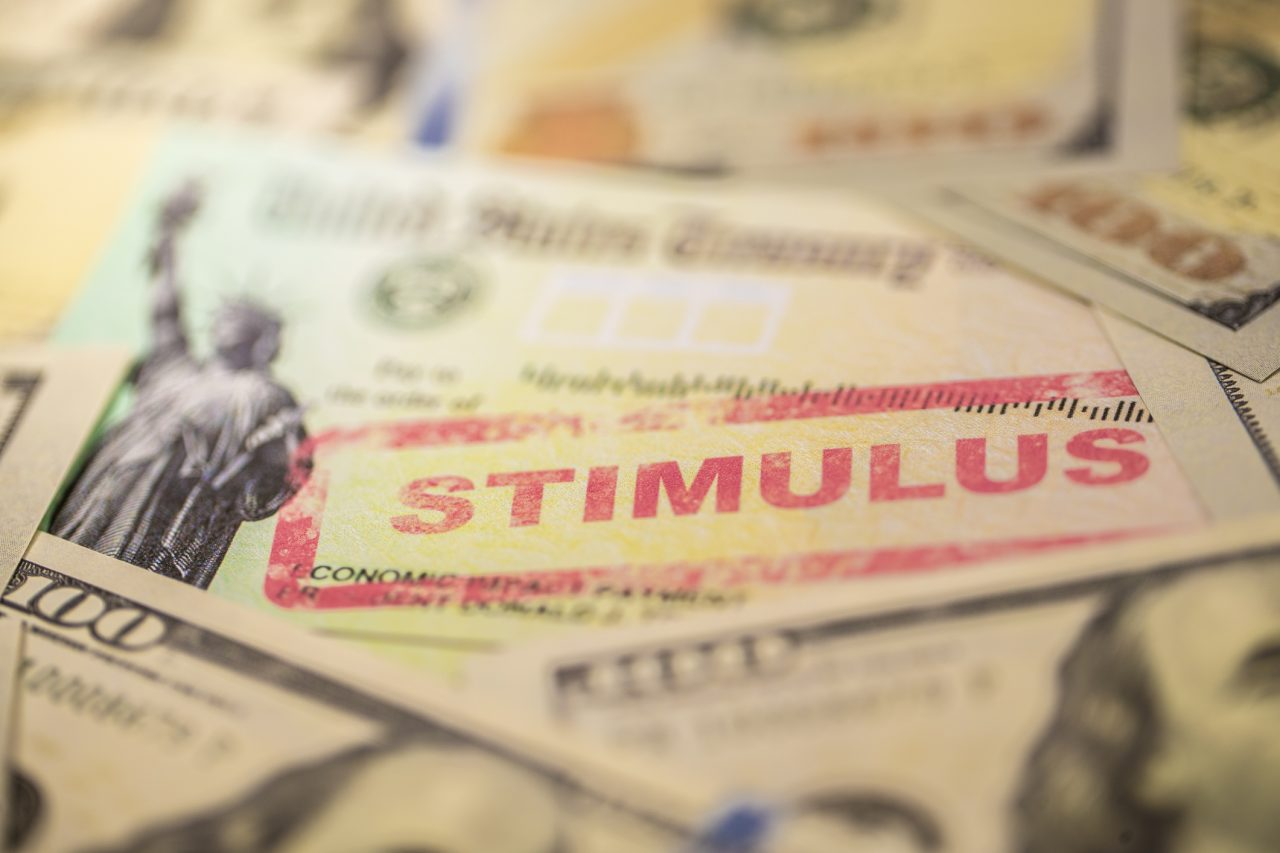 A stimulus check is seen in a file image (iStock/Getty Images Plus)