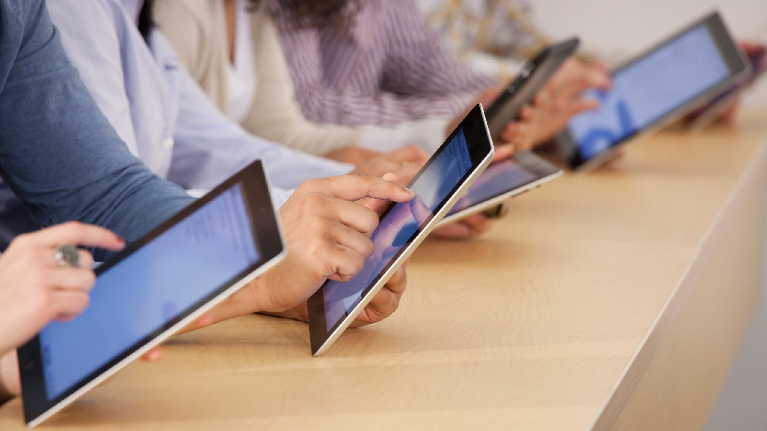 Students use iPads in this undated file photo. (Getty Images)