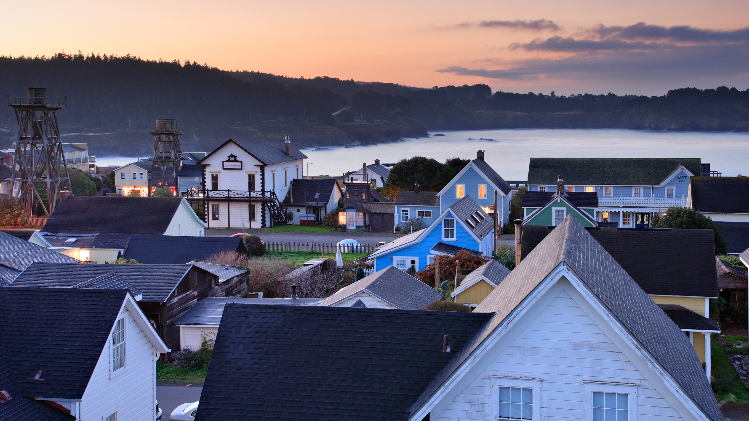Mendocino is seen at dawn in this undated file photo. (Getty Images)