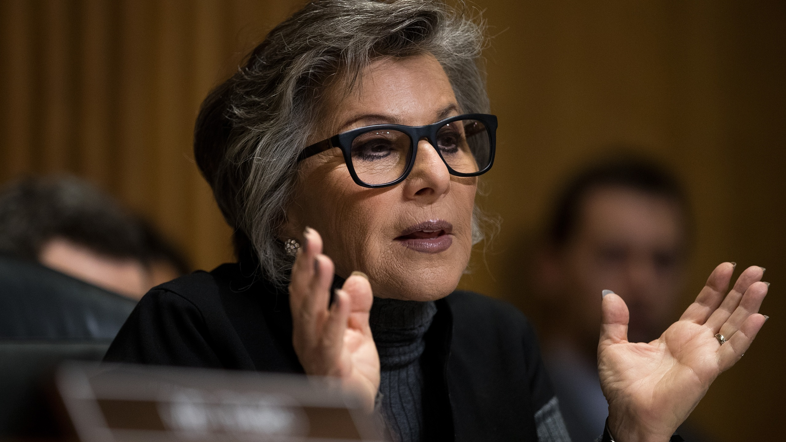 Committee ranking member Sen. Barbara Boxer (D-CA) questions witnesses during a Senate Foreign Relations Committee hearing concerning cartels and the U.S. heroin epidemic, on Capitol Hill on May 26, 2016, in Washington, DC. (Drew Angerer/Getty Images)