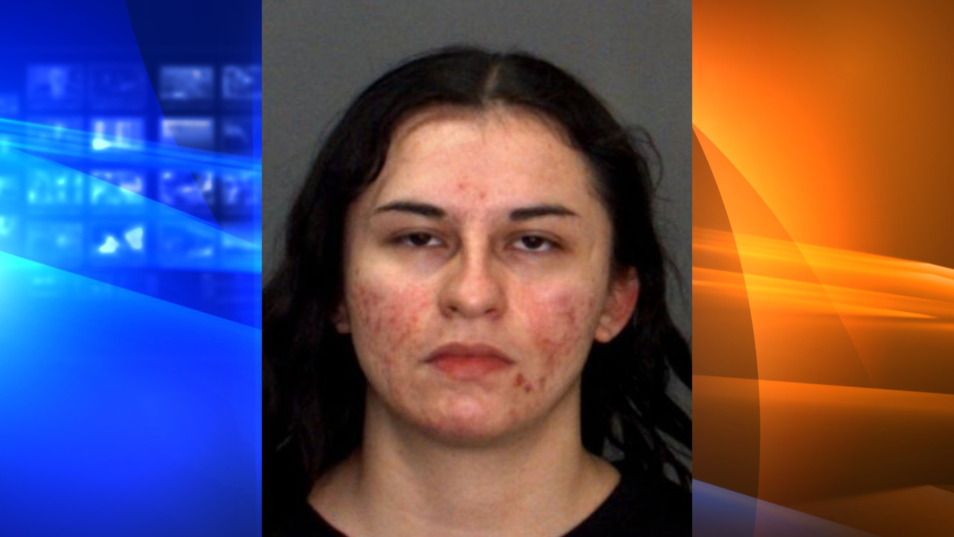 The San Bernardino County Sheriff's Department released this booking photo of Joana Aguilar.
