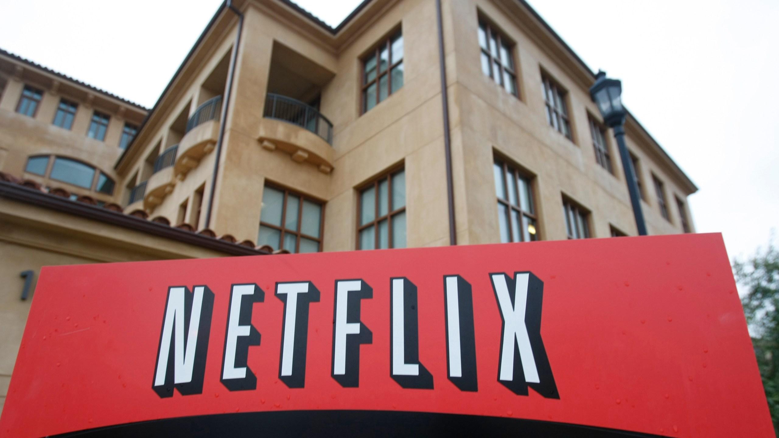 This Jan. 29, 2010, photo shows the Los Gatos headquarters of Netflix, which has hired veteran video game executive Mike Verdu. (AP Photo/Marcio Jose Sanchez)