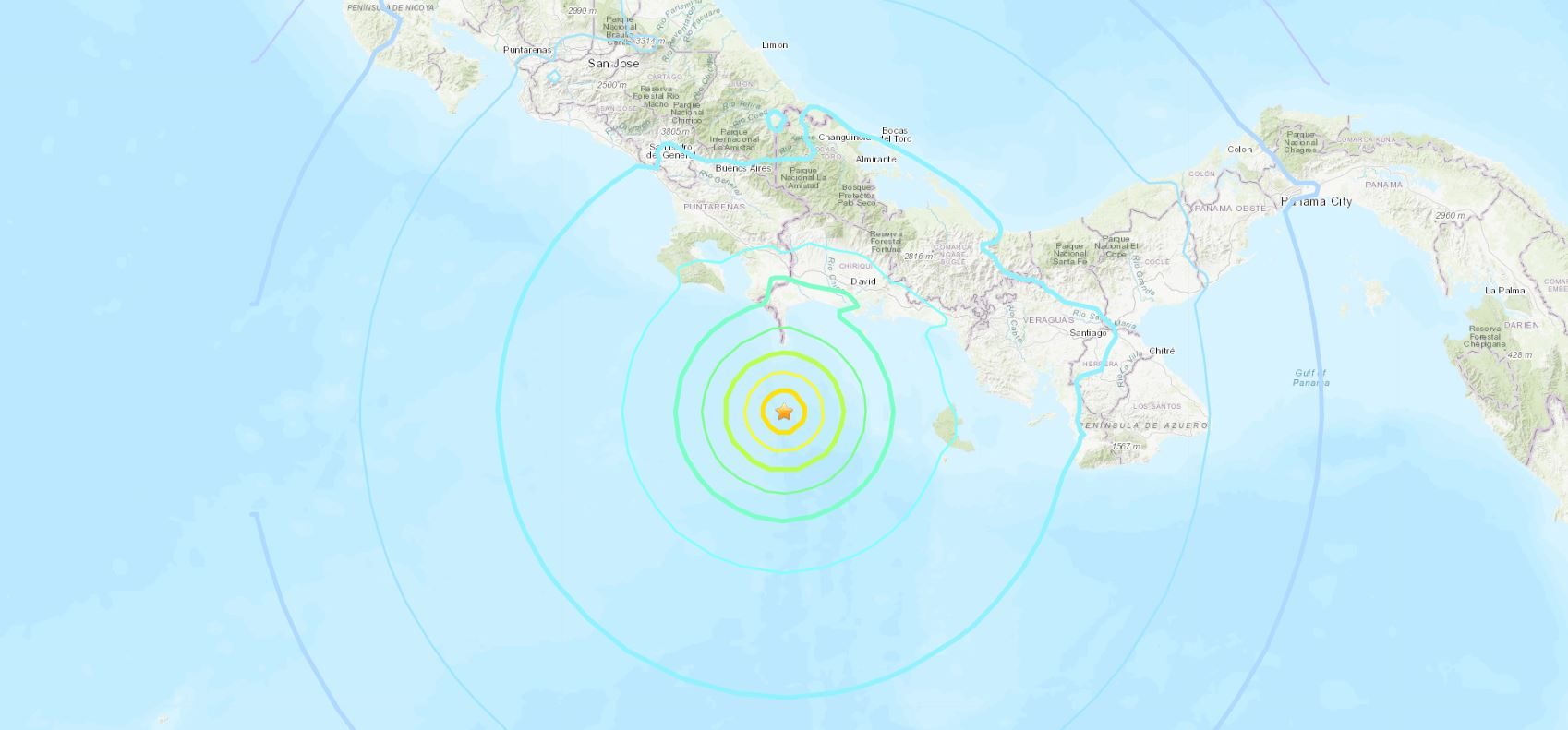 A USGS map shows the location of a quake that occurred July 21, 2021.
