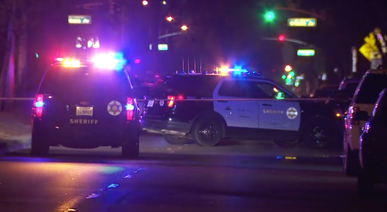 Sheriff's homicide detectives were investigating the fatal shooting of a 19-year-old man in Paramount on July 20, 2021. (KTLA)