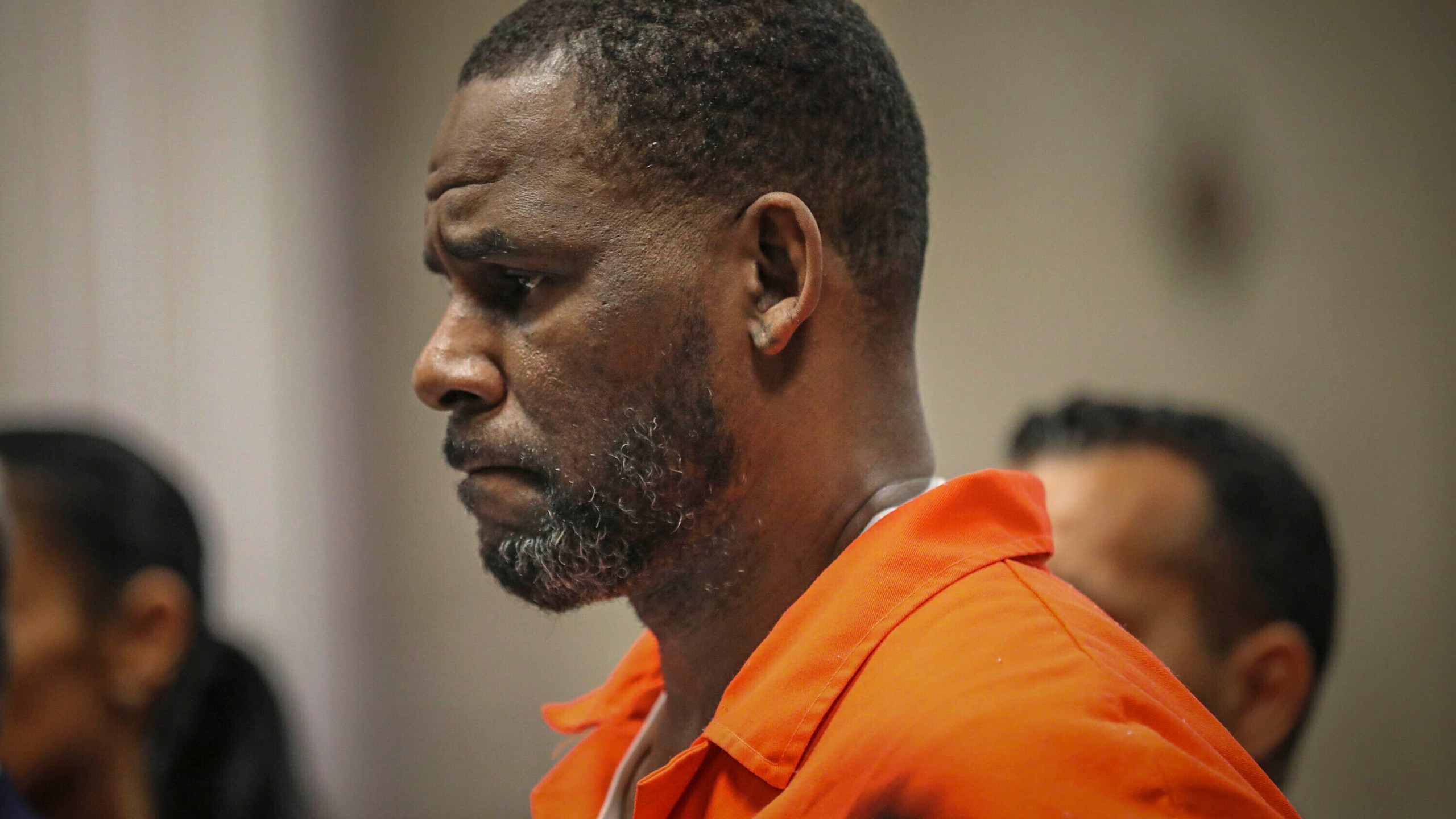 In this Sept. 17, 2019, photo, R. Kelly appears during a hearing at the Leighton Criminal Courthouse in Chicago. (Antonio Perez/Chicago Tribune via AP, Pool)