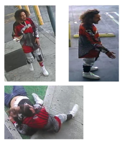 Stills of an assailant wanted in a fight and stabbing in Panorama City on June 20, 2021 were released by LAPD on July 2, 2021.