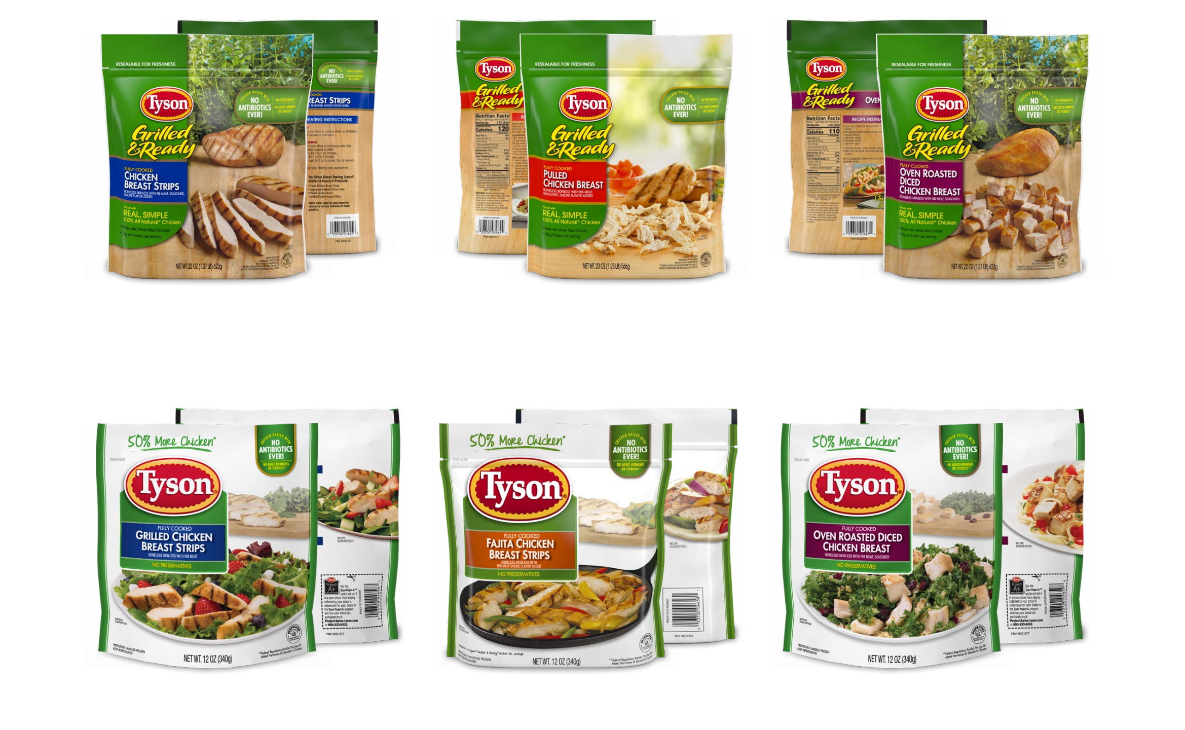 Tyson brand products being recalled are seen in images released by the company July 3, 2021.