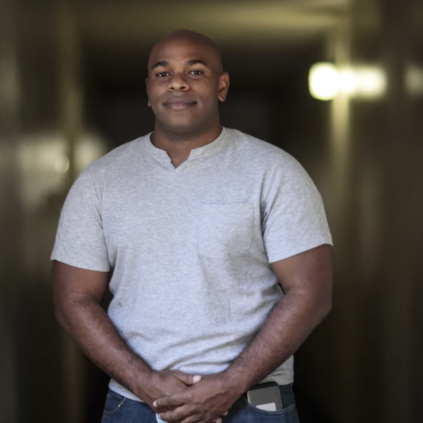 LAPD Officer Michael Silva, pictured at home, says being a Black cop has been tough this year, but he's still optimistic about the profession.(Robert Gauthier/Los Angeles Times)