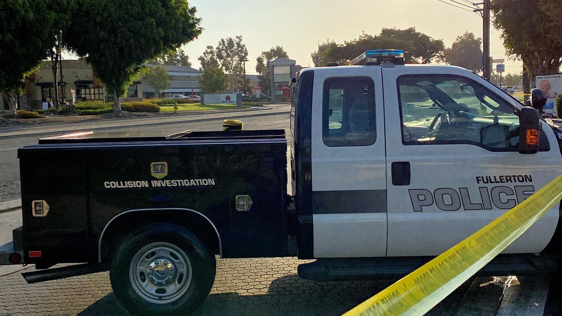 The Fullerton Police Department posted this photo on Twitter after a fatal hit-and-run crash on July 8, 2021.