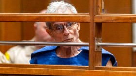 In this Sept. 19, 2019, file photo, Ed Buck appears in Los Angeles Superior Court in Los Angeles. (Damian Dovarganes / Associated Press)