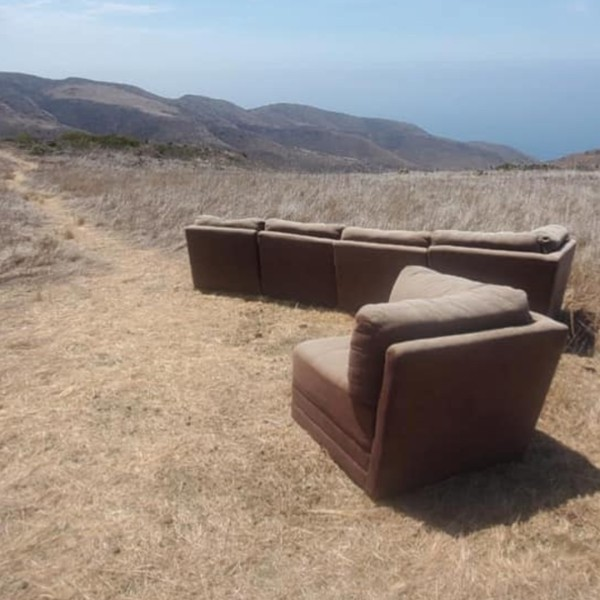 The Santa Monica Mountains National Recreational Area released this photo of the furniture on July 16, 2021.