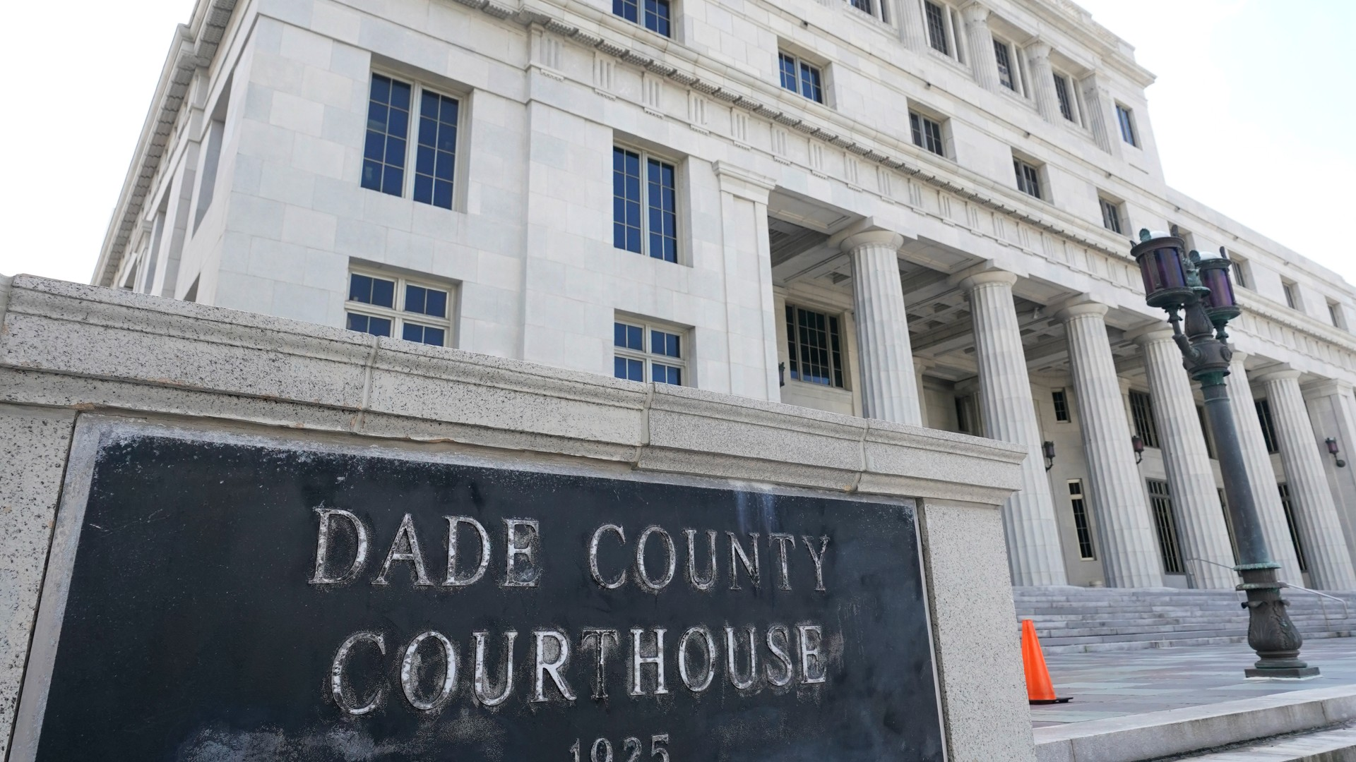 This Oct. 8, 2020 photo shows the Miami-Dade County Courthouse in Miami. Officials say the Miami-Dade County Courthouse will begin undergoing repairs immediately after a review found safety concerns within the building. (AP Photo/Wilfredo Lee)