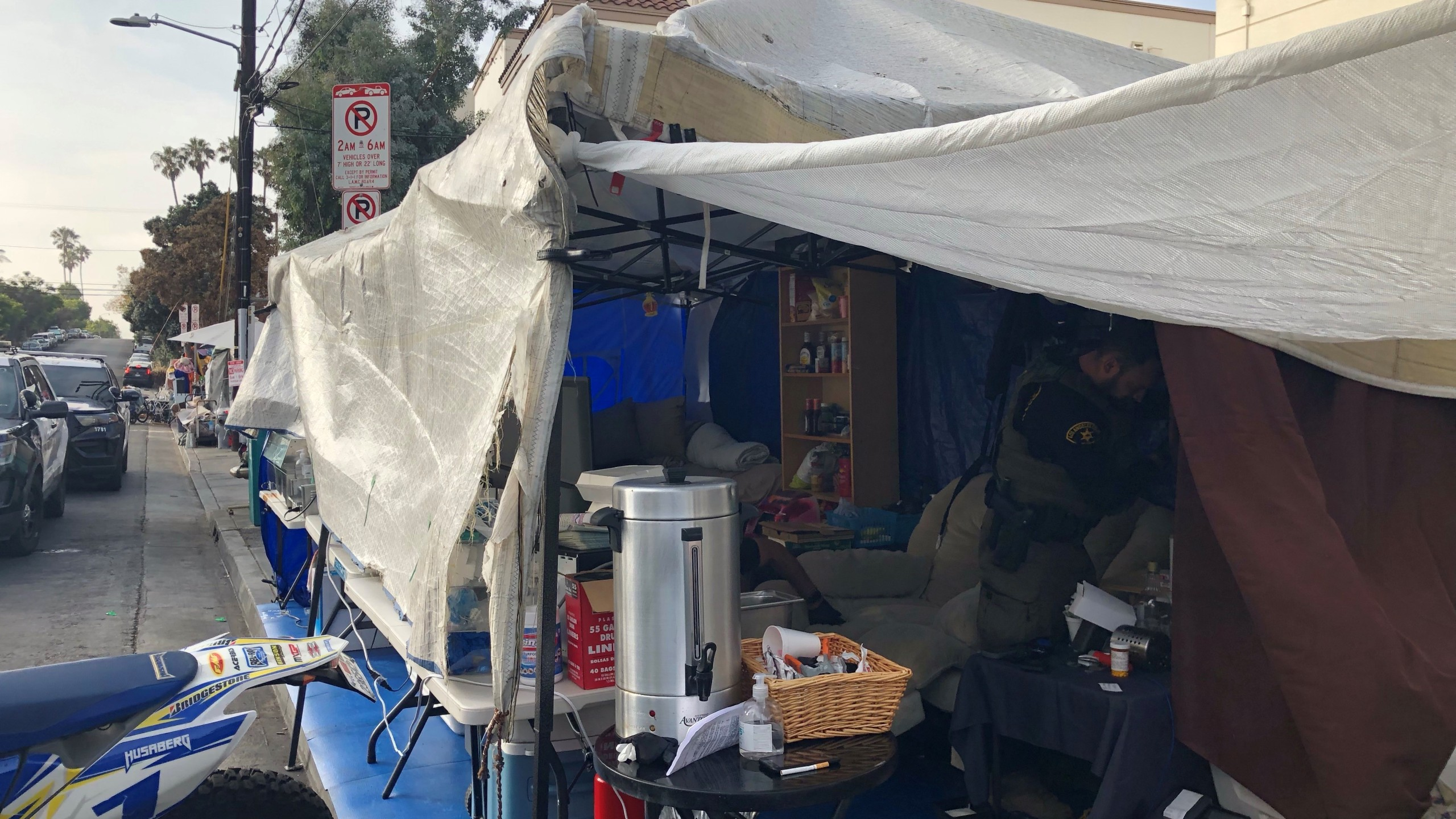 A self-proclaimed homeless advocate was arrested in the Venice area of Los Angeles after he was allegedly found selling narcotics to the homeless population. (Los Angeles Sheriff's Department)