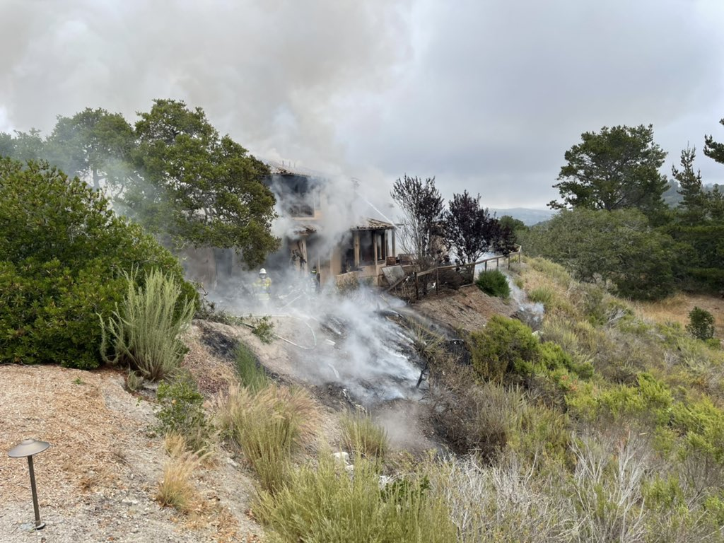 The Monterey County Regional Fire Protection District tweeted this image of a plane crash on July 13, 2021.