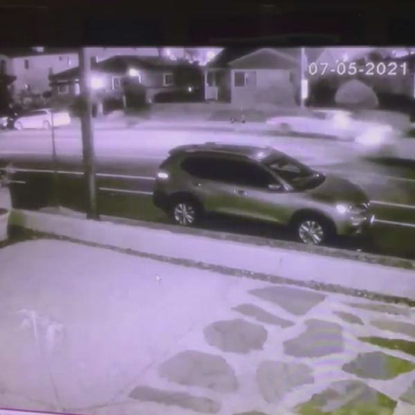 Video provided by RMG News shows the crash that followed a car-to-car shooting in Venice on July 5, 2021.