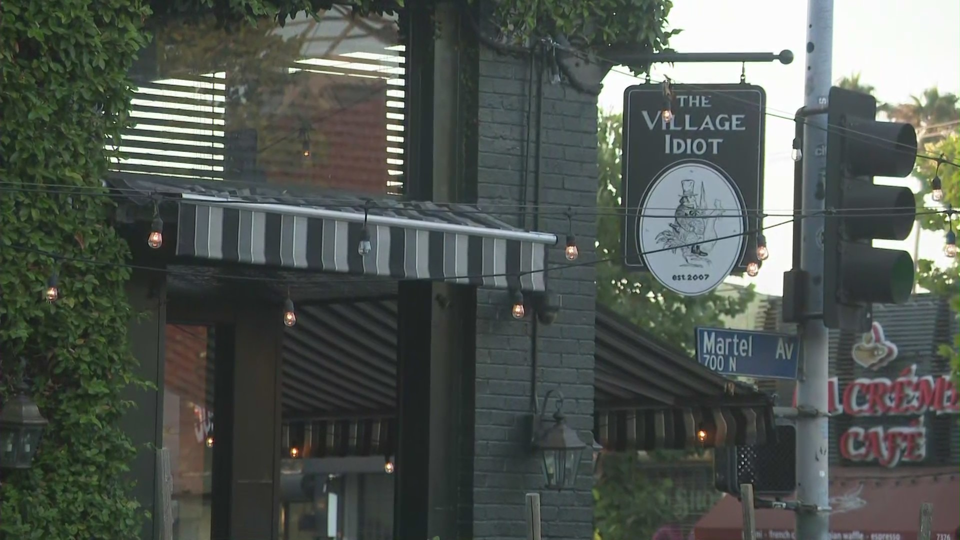 The Village Idiot in the Fairfax District is seen on July 22, 2021. (KTLA)