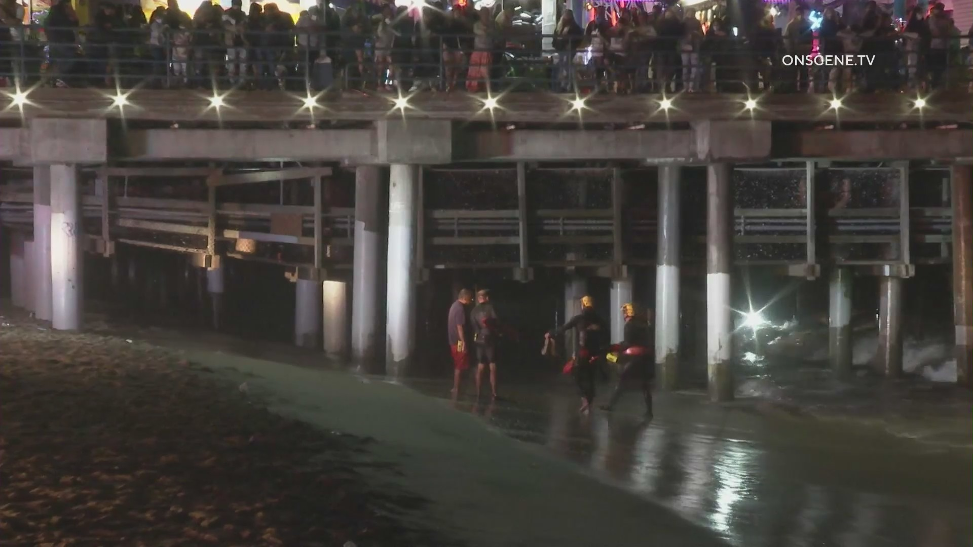 A swimmer disappeared near the Santa Monica Pier on July 25, 2021. (OnScene.TV)