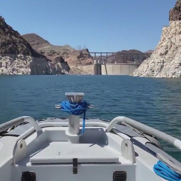 Lake Mead is seen in June 2021. (KTLA)