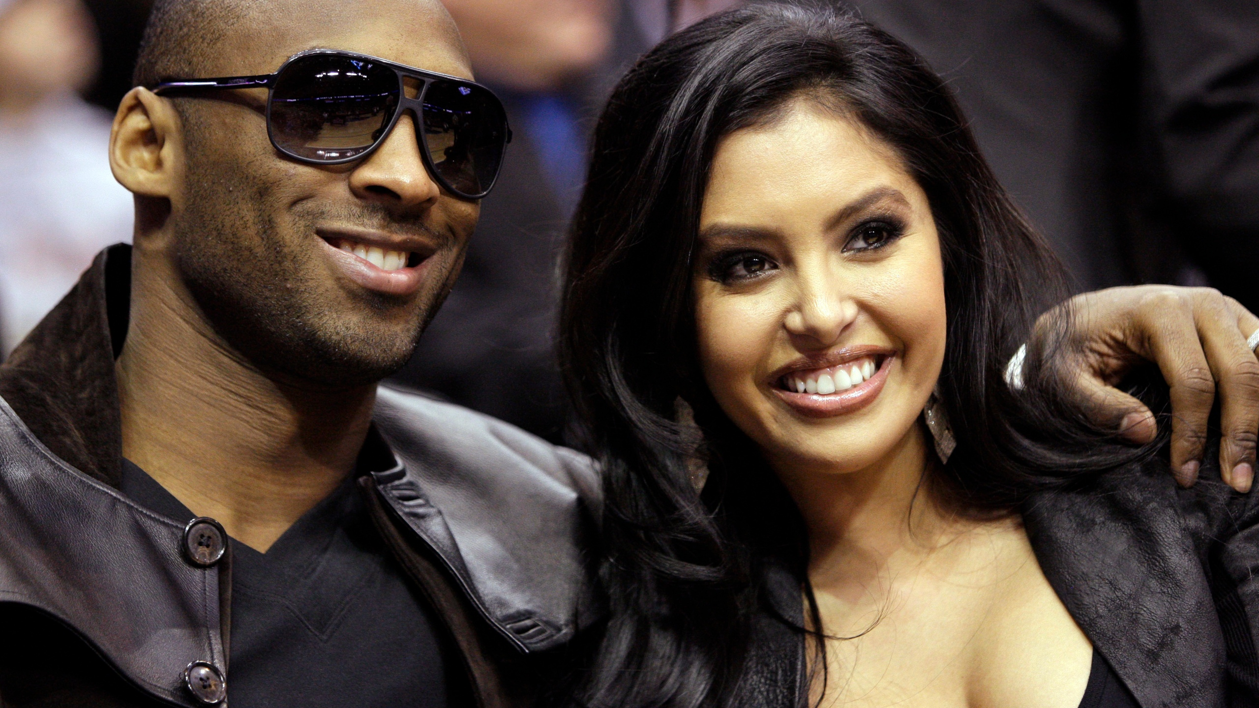 In this Feb. 13, 2010, file photo, Los Angeles Lakers guard Kobe Bryant and his wife, Vanessa, attend the skills competition at the NBA basketball All-Star Saturday Night in Dallas. (AP Photo/LM Otero, File)