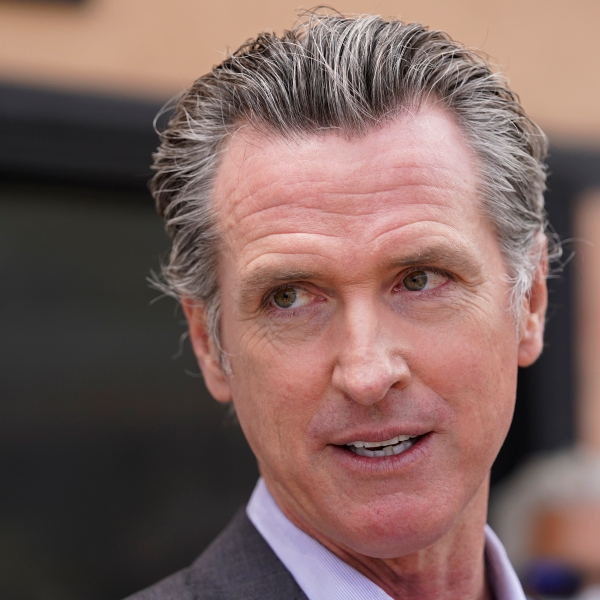 In this June 3, 2021, file photo California Gov. Gavin Newsom listens to questions during a news conference in San Francisco. (AP Photo/Eric Risberg, File)