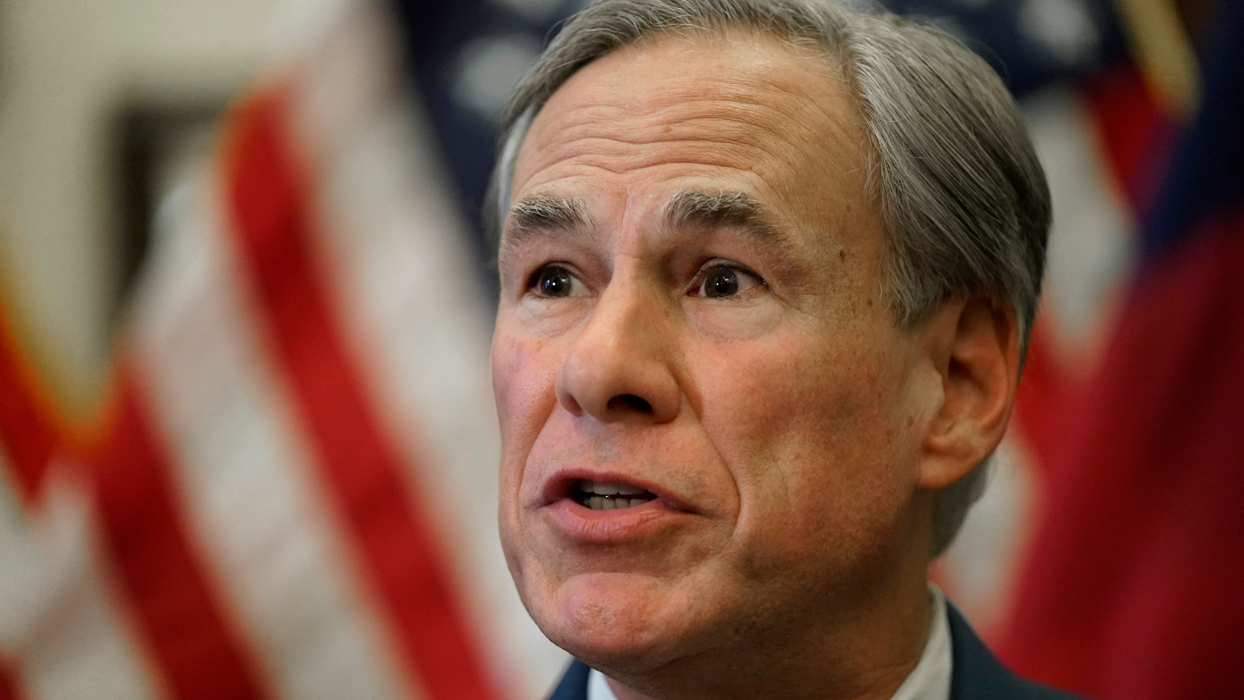 Texas Gov. Greg Abbott speaks at a news conference in Austin, Texas, on June 8, 2021. (Eric Gay / Associated Press)