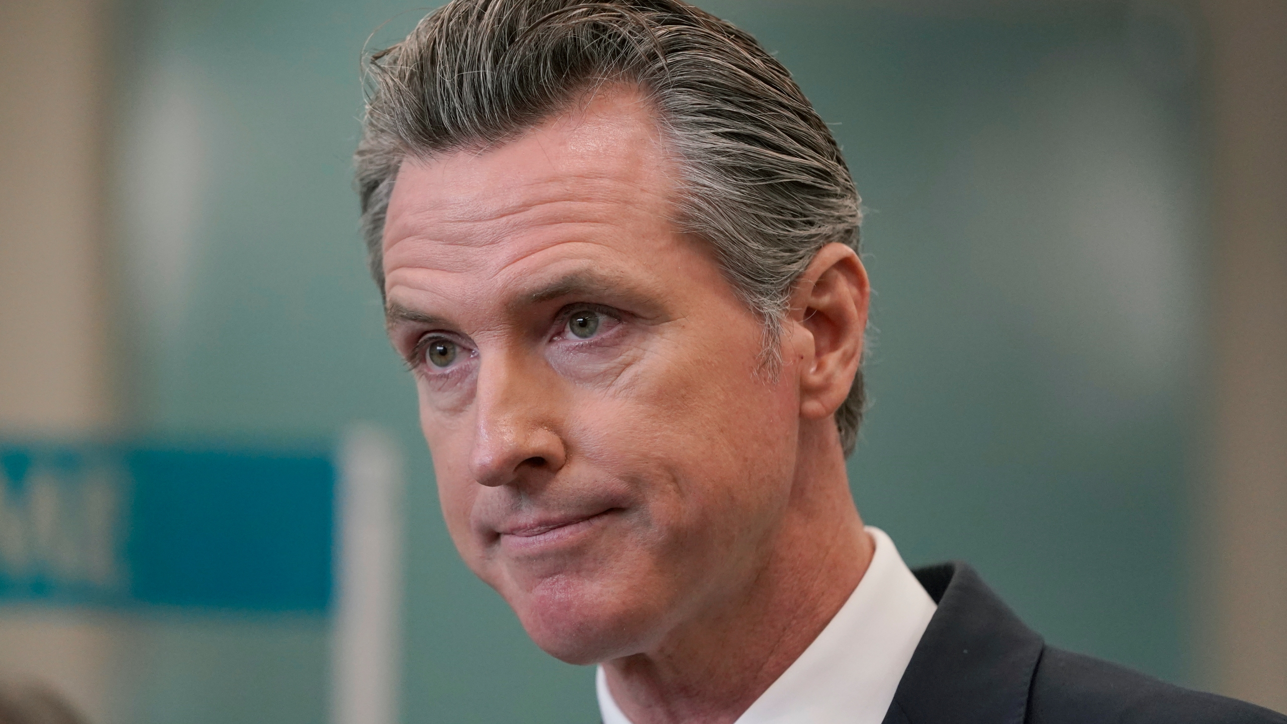 In this July 26, 2021 file photo Gov. Gavin Newsom speaks at a news conference in Oakland, Calif. California could witness a stunning turnabout if voters dump Newsom and elects a Republican to fill his job in a the September recall election. (AP Photo/Jeff Chiu, File)